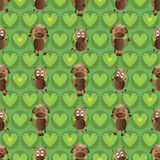 Horse symmetry style seamless pattern Stock Photography