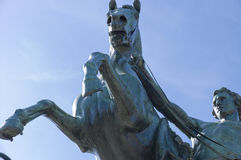 Horse tamer sculpture details Stock Images