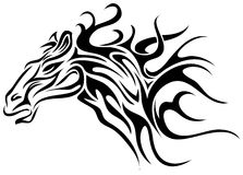 Horse tattoo Royalty Free Stock Photo