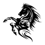 Horse tattoo symbol for design isolated on white emblem or logo template. Stock Images