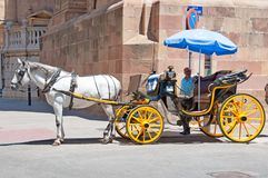 Horse taxi Royalty Free Stock Image