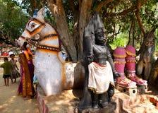 Horse Temple, Chettinadu, India Stock Images