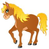 Horse theme image 1 stock illustration