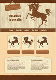 Horse theme for web site template Stock Images