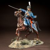 Horse tin soldier. Metal traditional russian cavalier toy Royalty Free Stock Image