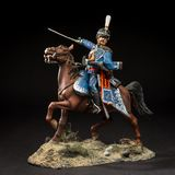 Horse tin soldier. Metal traditional russian cavalier toy Stock Photography