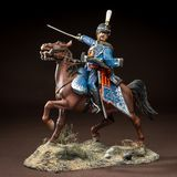 Horse tin soldier. Metal traditional russian cavalier toy Royalty Free Stock Photos