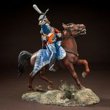Horse tin soldier. Metal traditional russian cavalier toy Royalty Free Stock Photography