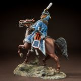 Horse tin soldier. Metal traditional russian cavalier toy Royalty Free Stock Photo