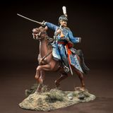 Horse tin soldier. Metal traditional russian cavalier toy Stock Photos
