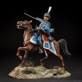 Horse tin soldier. Metal traditional russian cavalier toy Stock Image