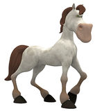 Horse toon. 3d render of a horse , toon Royalty Free Stock Images