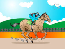 Horse in a tournament race Stock Image