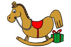 Horse toy and gift Stock Image