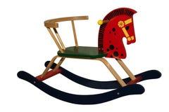 Horse. Toy objects rocking isolated wood childhood Stock Photos