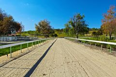 Horse trail. Dirt trail for horse and buggy riding Stock Photography