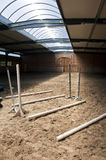 Horse training ground. Close up of the obstacles in the horse training ground Stock Photo