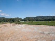 Horse training ground Royalty Free Stock Image