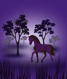 Horse and Trees Stock Images
