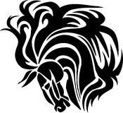 Horse in tribal style - vector illustration. Royalty Free Stock Image