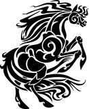 Horse in tribal style - vector illustration. Stock Photo