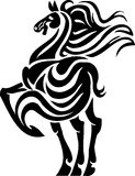 Horse in tribal style - vector illustration. Royalty Free Stock Photos