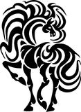 Horse in tribal style - vector illustration. Royalty Free Stock Photography