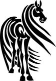 Horse in tribal style - vector illustration. Stock Images