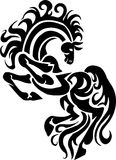 Horse in tribal style - vector illustration. Stock Image