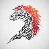 Horse Tribal Tattoo Stock Photo