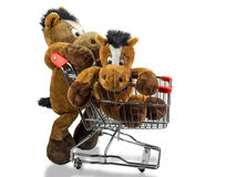 Horse in the trolley Royalty Free Stock Photos