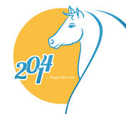 Horse 2014. Vector illustration of Horse 2014 stock illustration