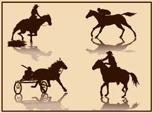 Horse vector silhouette Stock Photography