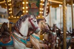 Horse, vintage carousel Royalty Free Stock Photo