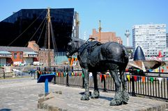 Horse Waiting Statue, Liverpool. Royalty Free Stock Photo