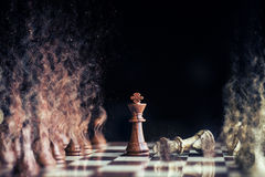 Horse war at chess with sand storm Royalty Free Stock Image