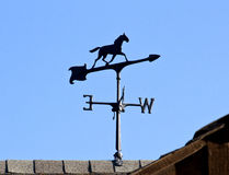 Horse Weather Vane On Roof Royalty Free Stock Image