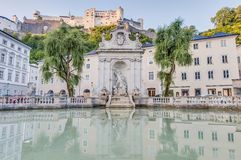 Horse Well Fountain in Salzburg, Austria Royalty Free Stock Images
