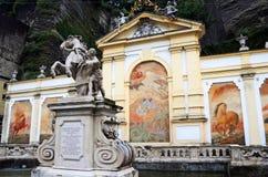 Horse well. Or Pferdeschwemme in Salzburg, constructed by Johann Bernhard Fischer von Erlach Royalty Free Stock Photos