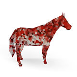 Horse. White Background with form 3d horse Royalty Free Stock Image