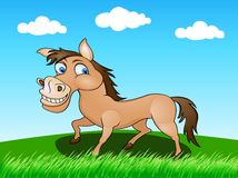 Horse in the wild. Illustration of horse in the wild Stock Photo