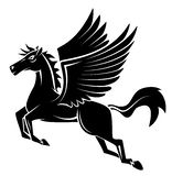 Horse Wing Tattoo Royalty Free Stock Photo