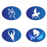 Horse wings logo  Royalty Free Stock Images