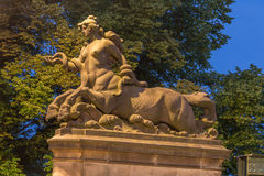 Horse woman statue Stock Images