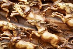 Free Horse Wood Carve Royalty Free Stock Photography - 33540787