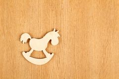 Horse. Wooden Stock Images