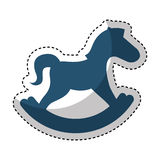 Horse wooden isolated icon Stock Photo