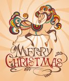 Horse 2014. 2014 year of the decorative horse royalty free illustration
