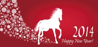 Horse  Year. 2014 design. EPS 10 Stock Images
