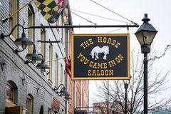 The Horse You Came In On Saloon, in Fells Point, Baltimore, Maryland.  stock image
